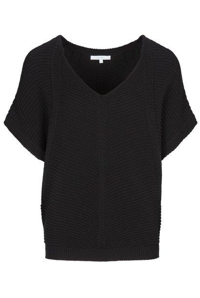 Top suze cotton pullover jet black