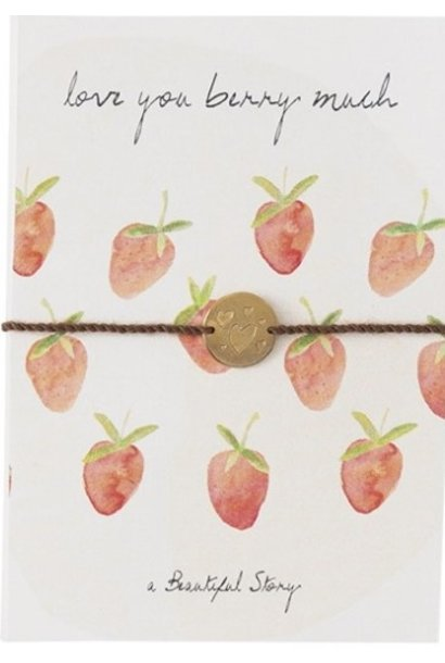 Armband Postcard Strawberries