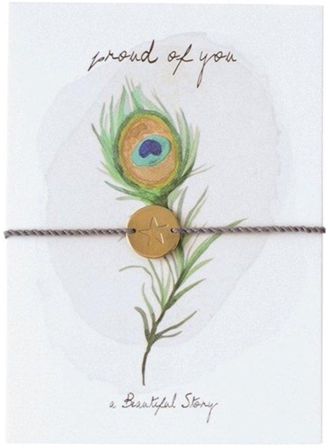 Armband Postcard Peacock