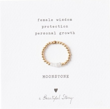 Ring Beauty Moonstone M/L Gold-1