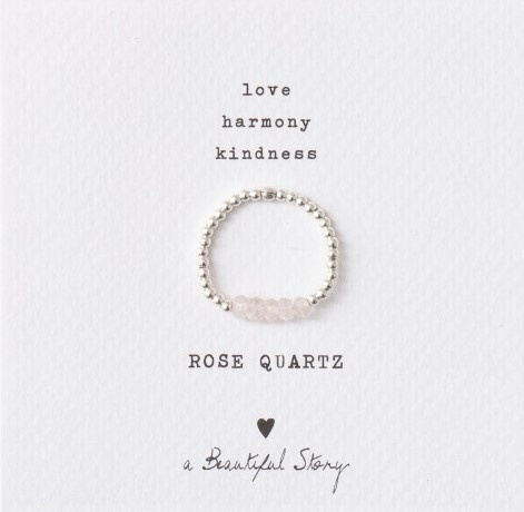 Ring Beauty Rose Quartz Silver M/L-1