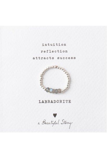 Ring Beauty Labradorite M/L Silver