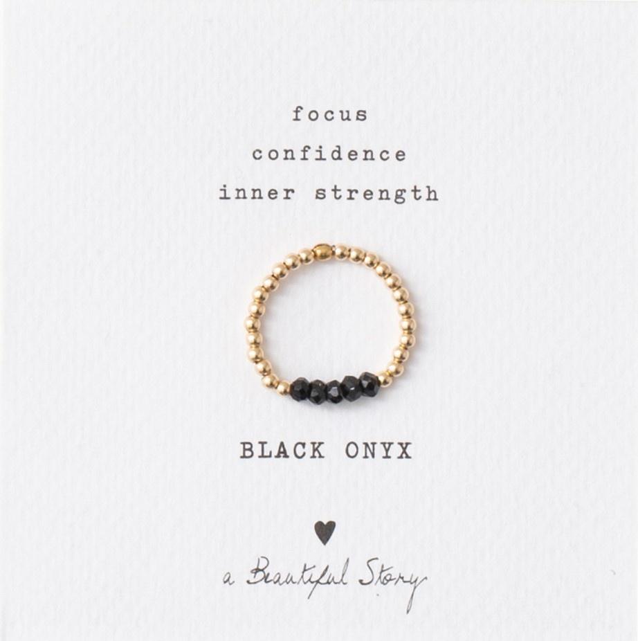 Ring Beauty onyx Gold M/L Black-1