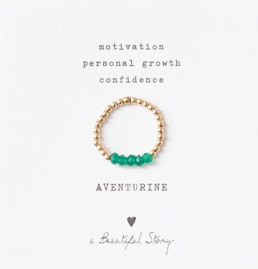 Ring Beauty Aventurine Gold Green-1