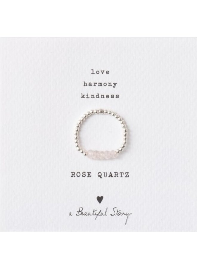 Ring Beauty Quartz Silver Rose