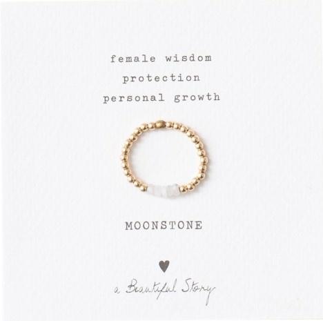 Ring Beauty moonstone Gold White-1