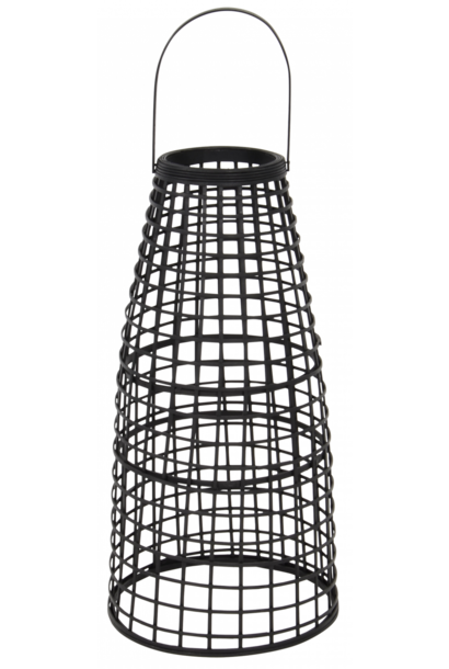 Lantaarn Anzu zwart 53cm met LED