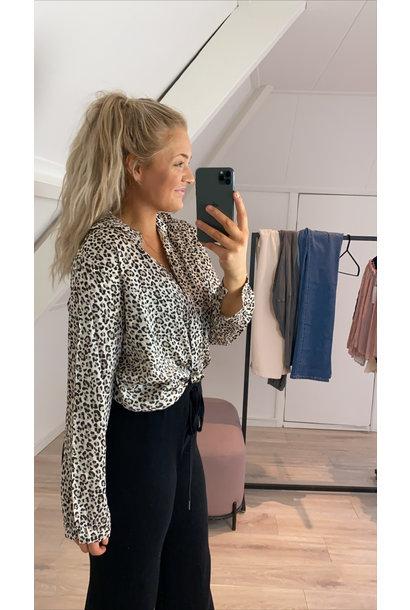 Blouse leopard beige