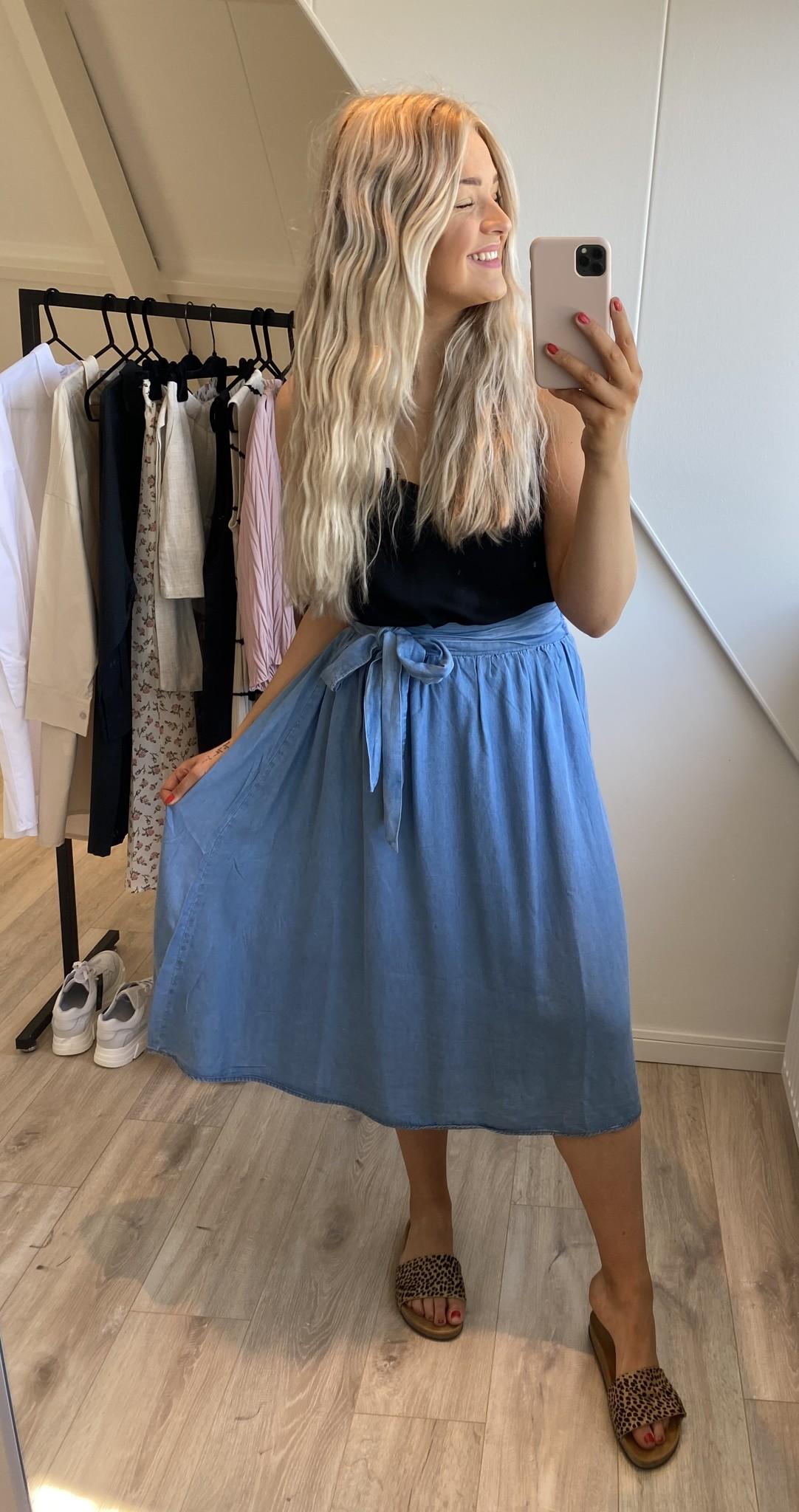 Rok EsterCR Skirt Denim Blue-6