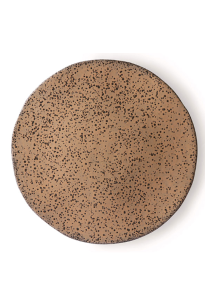 Bord gradient ceramics side plate  taupe