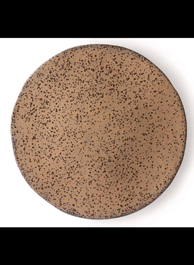 Bord gradient ceramics side plate  taupe