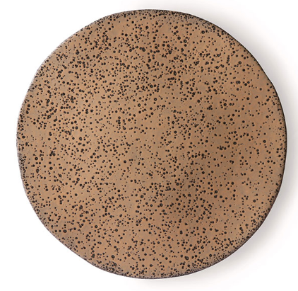 Bord gradient ceramics side plate  taupe-1