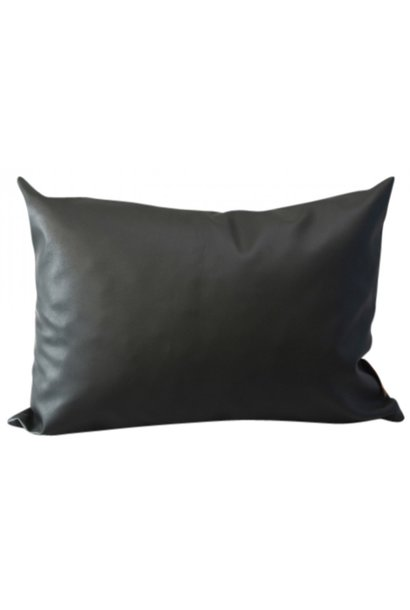 Kussen outdoor 'Anthracite Leather' 60x40cm