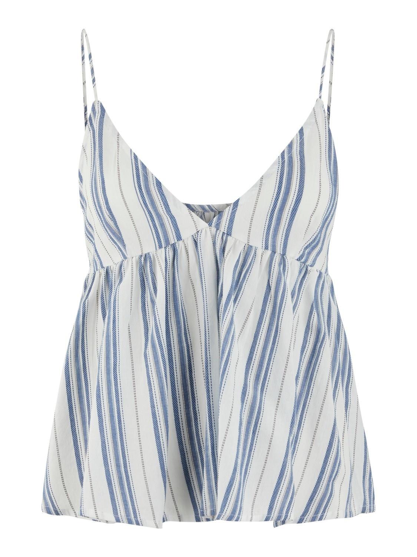 Hemdje Yasbreeza spaghettiband streep blauw/wit-1
