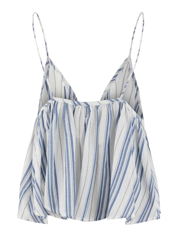 Hemdje Yasbreeza spaghettiband streep blauw/wit-2