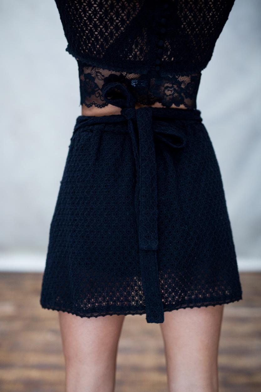 Rok jolie wrap skirt black-5