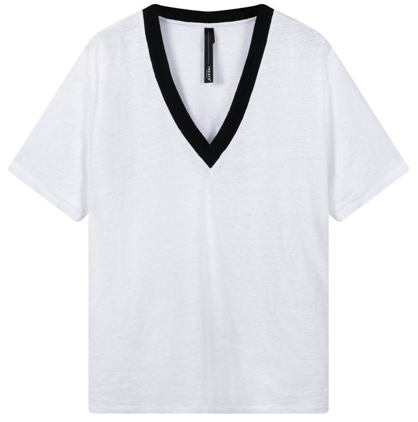 Top tee contrast white-1