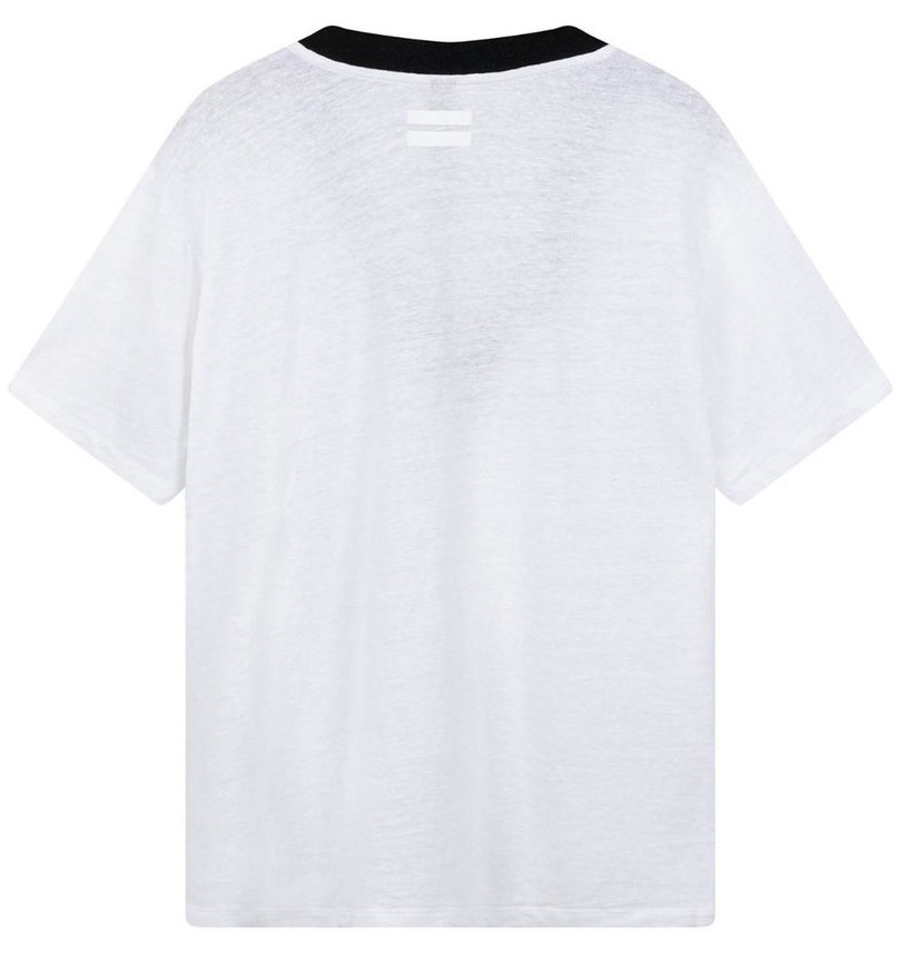 Top tee contrast white-3