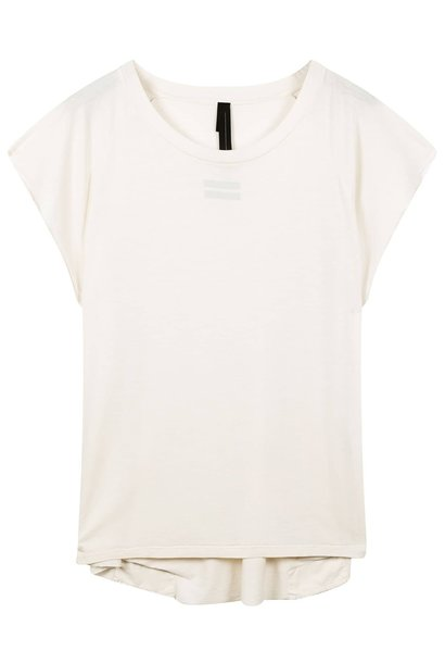 Top the tee raw edge winter white