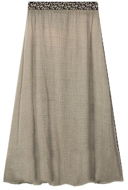 Rok Skirt gauze dark safari