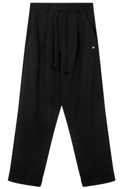 Broek loose party pants black