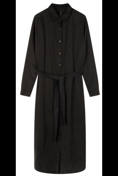 Jurk long shirt dress black