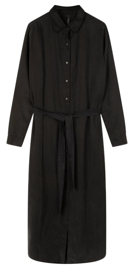 Jurk long shirt dress black-1