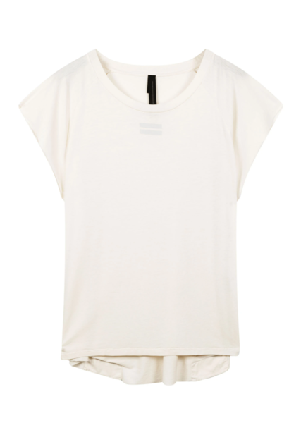 Top korte mouw the tee raw edge white
