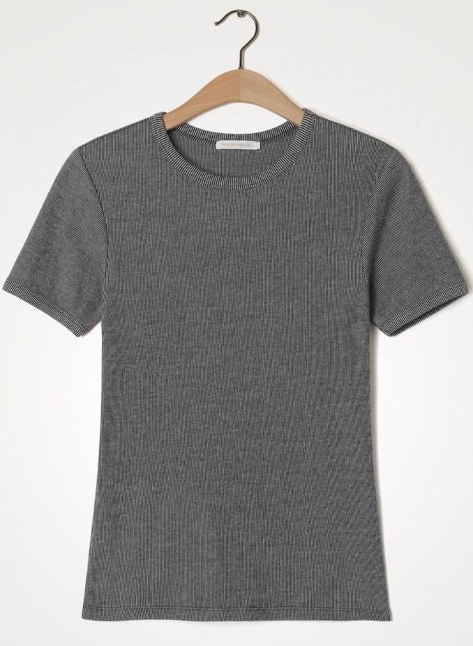 T-shirt  Valow carbone ecru-1