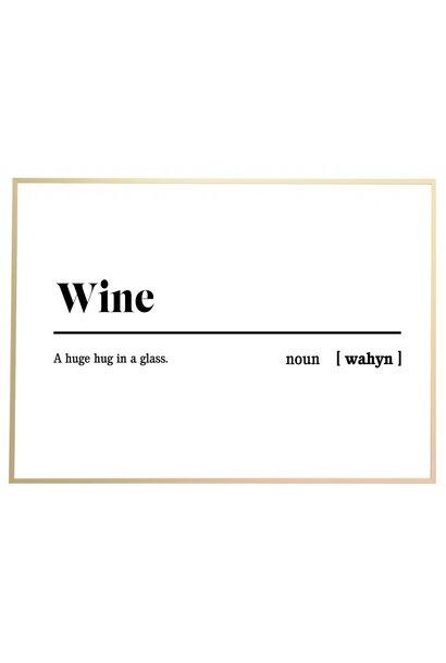 Poster outdoor 'Wine'