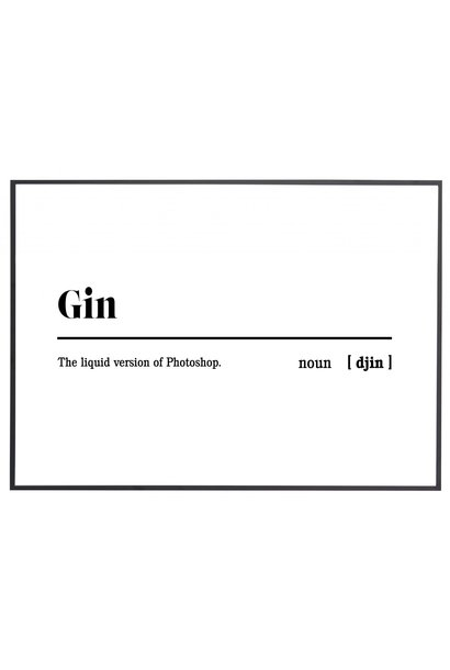 Poster outdoor 'Gin'