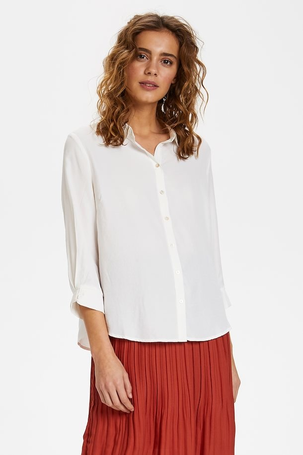 Blouse VickyCR lange mouw snow white-4