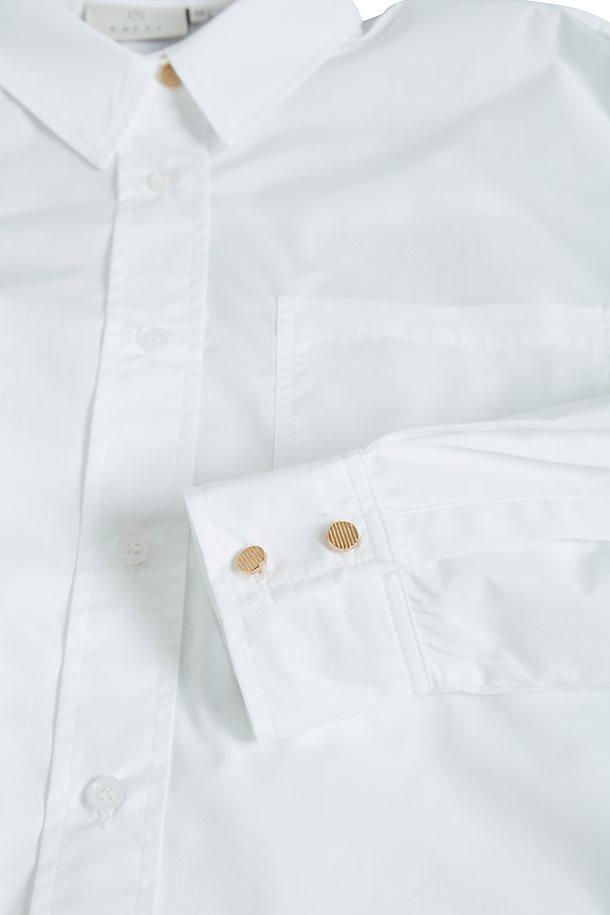 Blouse lang Kalolly Optical white-6