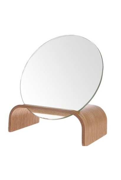 Willow wood mirror stand