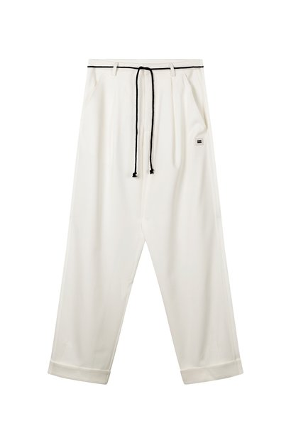 Broek loose party pants White