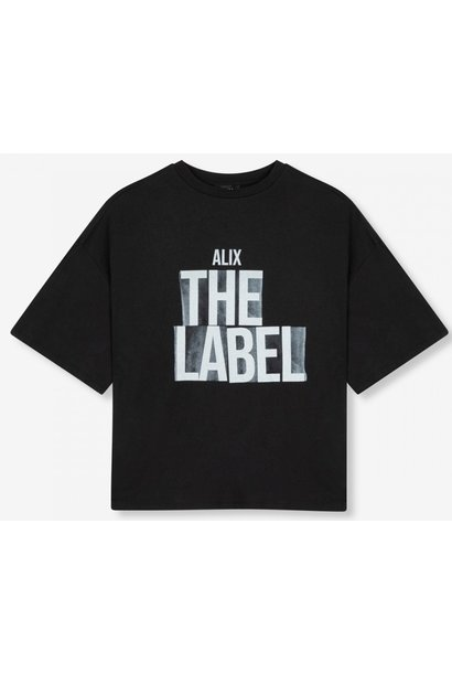 T-shirt knitted Alix the label black