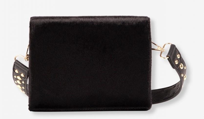 Tas Ladies woven small bag black-3