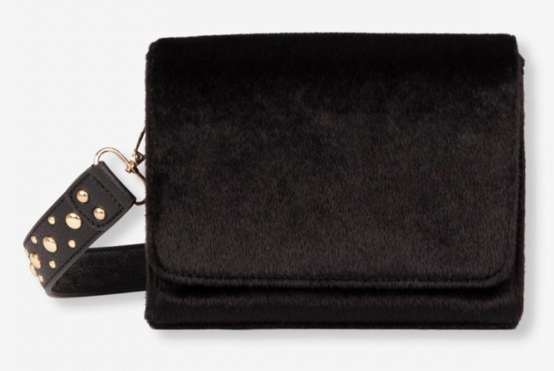 Tas Ladies woven small bag black-1