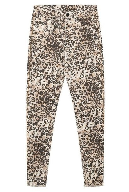 Jeans skinny denim leopard winter white