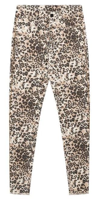 Jeans skinny denim leopard winter white-1