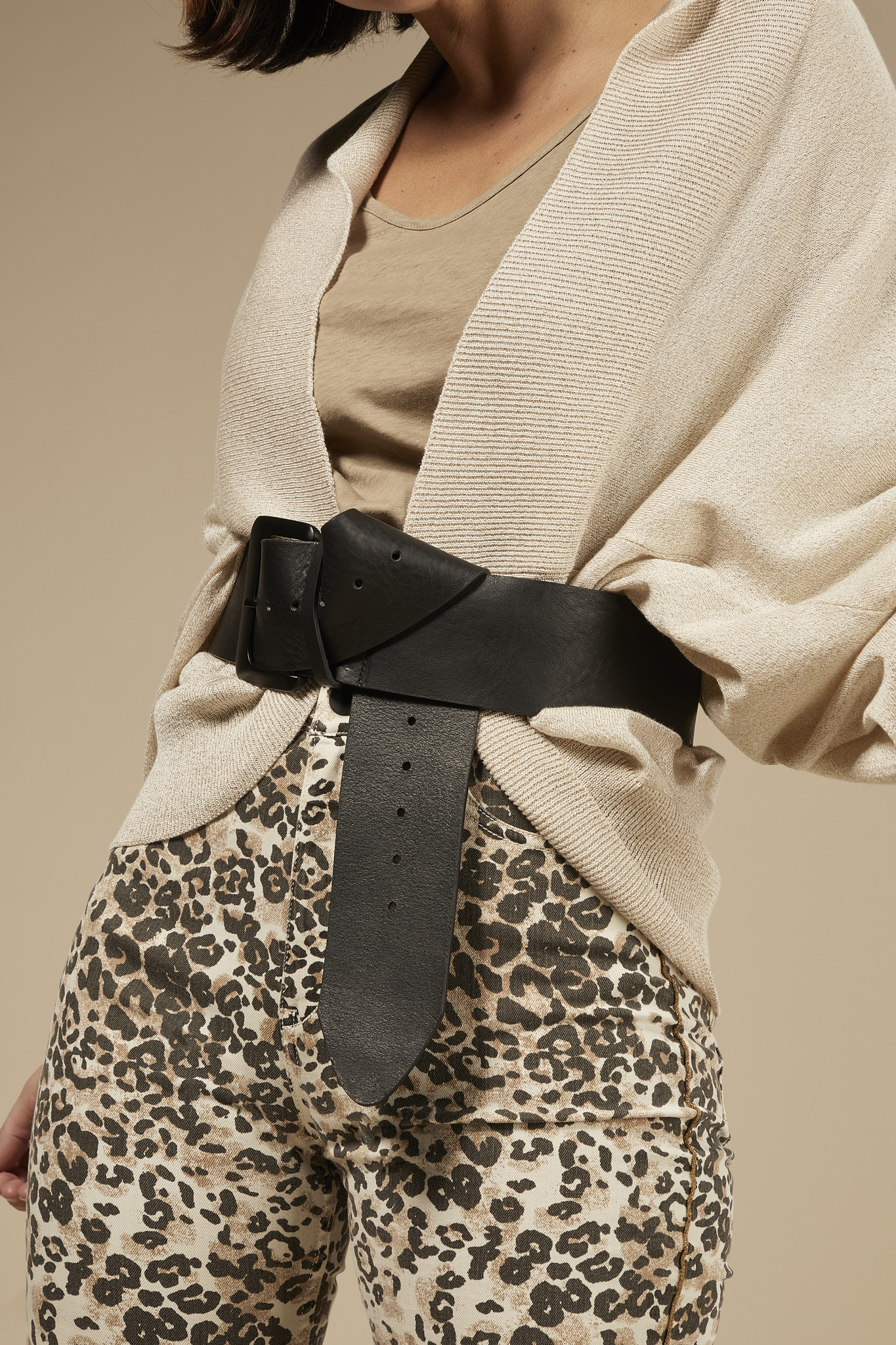Jeans skinny denim leopard winter white-5