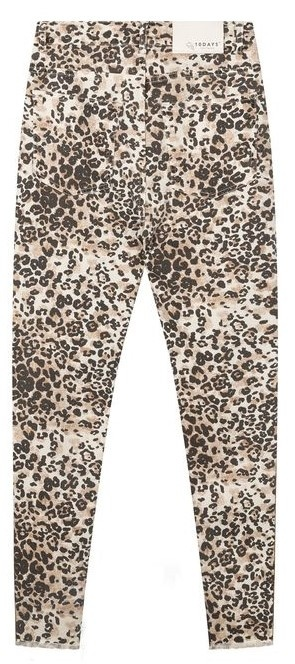 Jeans skinny denim leopard winter white-4
