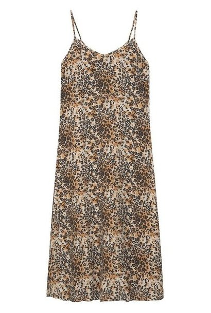 Jurk long dress leopard winter white