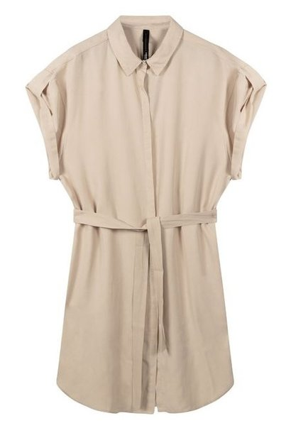 Jurk shirt dress light safari