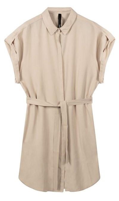Jurk shirt dress light safari-1