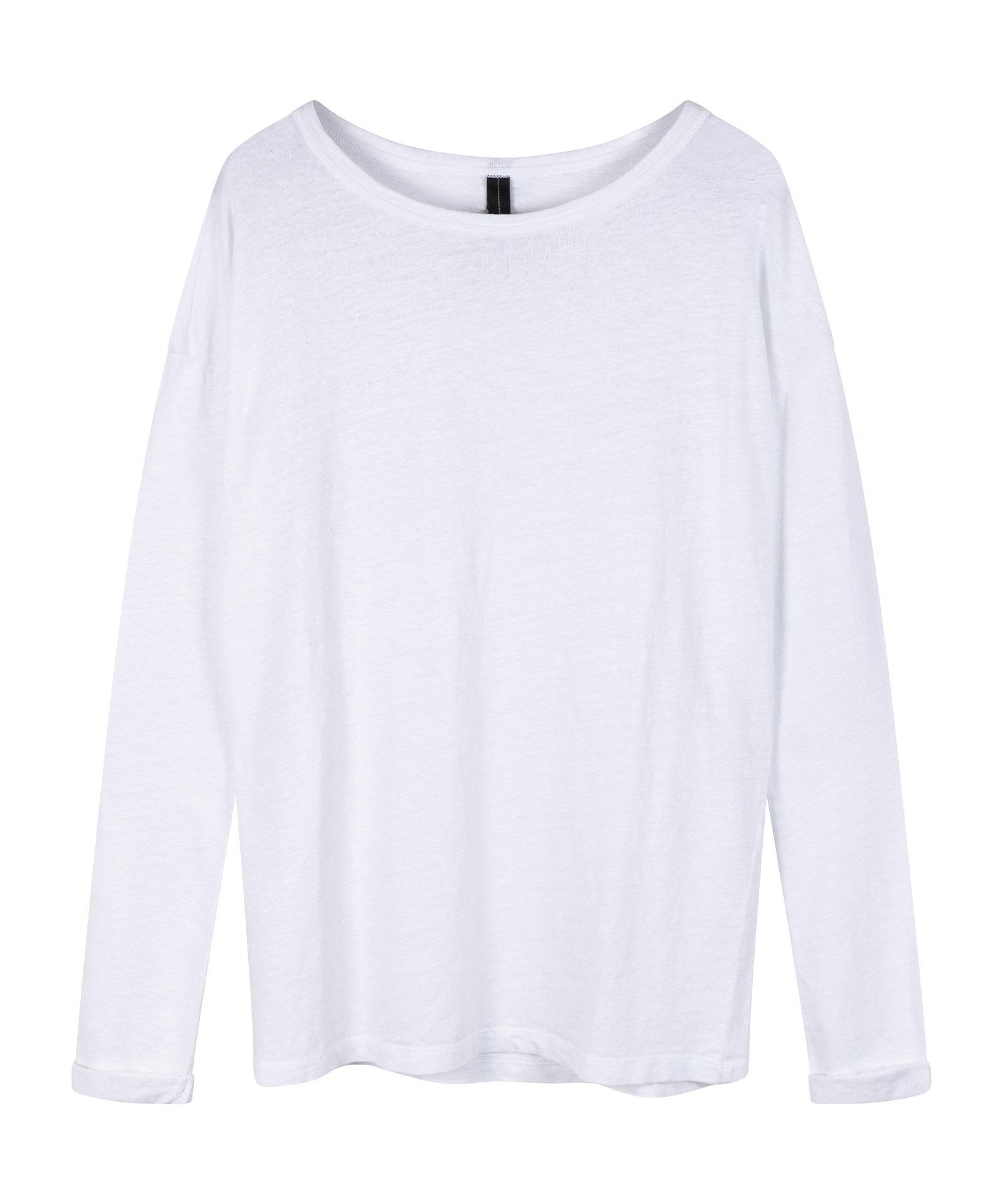 Top longsleeve tee linen white-1
