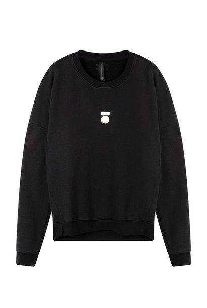 Trui foil print sweater black
