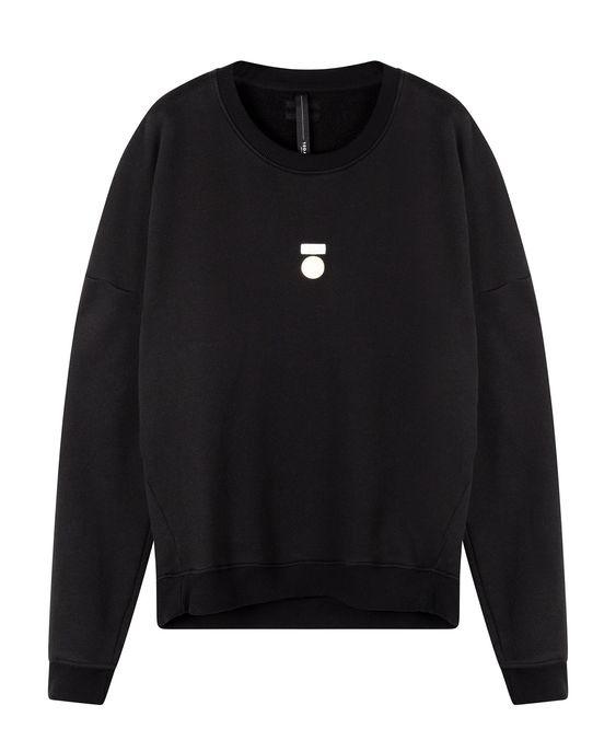 Trui foil print sweater black-1