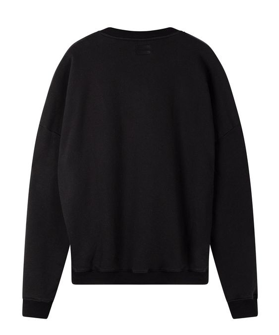 Trui foil print sweater black-3