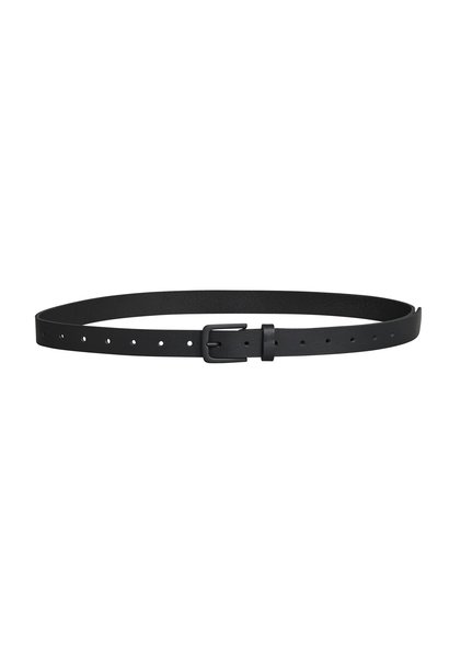 Riem leather belt black